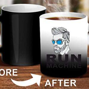 Crazy Sutra Classic Printed Ceramic Magic Mug - Coffee Mug/Milk Mug, Black (Mug-MagicRunMachine2)