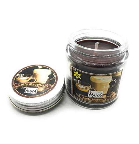 Crazy Sutra Soy Wax Premium jar Candles Aroma Candles Latte Macchiato Pack of 2