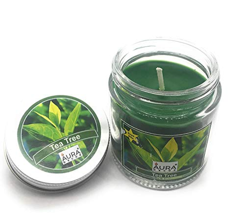 Crazy Sutra  Soy Wax Premium jar Candles Aroma Candles Tea Tree Pack of 2