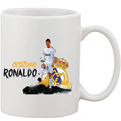 Crazy Sutra Classic Printed Football Special Cristiano Ronaldo Ceramic Coffee/Milk Mug   Funky One Liner Coffee/Milk Mug (Mug-CristianoRonaldo)
