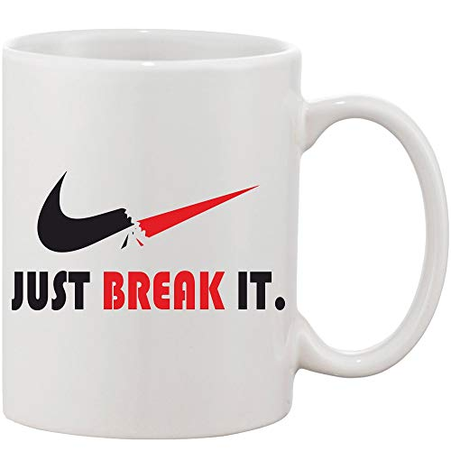 Crazy Sutra Classic Printed Ceramic Coffee/Milk Mug (Mug-JustBreakIt1)
