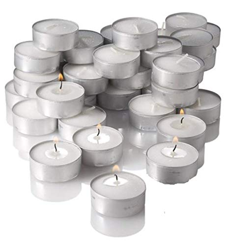 Crazy Sutra Paraffin wax Tealight Candle, Pack of 100  2.5-3.5 Hours Burning Time