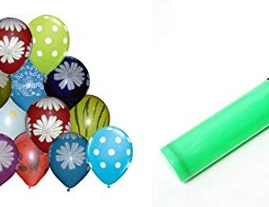 Crazy Sutra Colorful Printed Balloons for Birthday / Anniversary / Baby Shower - Pack of 50pc with Balloon Pump