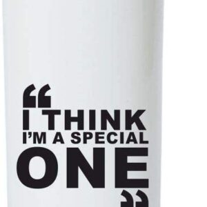 Crazy Sutra Classic Printed Cricket CricketCricket Special Water Bottle/Sipper White - 600Ml (Sipper-IThinkSpecial1)