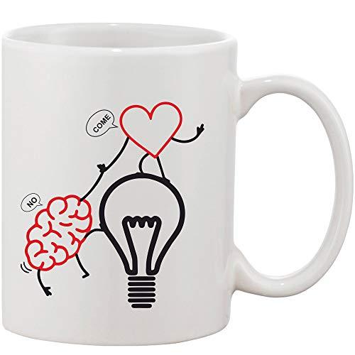 Crazy Sutra Classic Printed Ceramic Coffee/Milk Mug (Mug-HeartBoy)