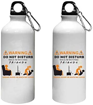 Crazy Sutra Classic Printed Quote Water Bottle/Sipper - 600Ml (WarningDon'tDisturb_W)
