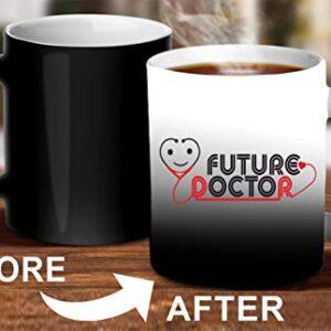 Crazy Sutra Classic Printed Ceramic Magic Mug - Coffee Mug/Milk Mug, Black (Mug-MagicFutureDoctor5)