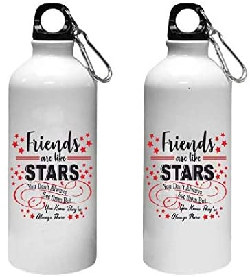 Crazy Sutra Classic Printed Friends Are Like Star Quote Water Bottle/Sipper - 600Ml
