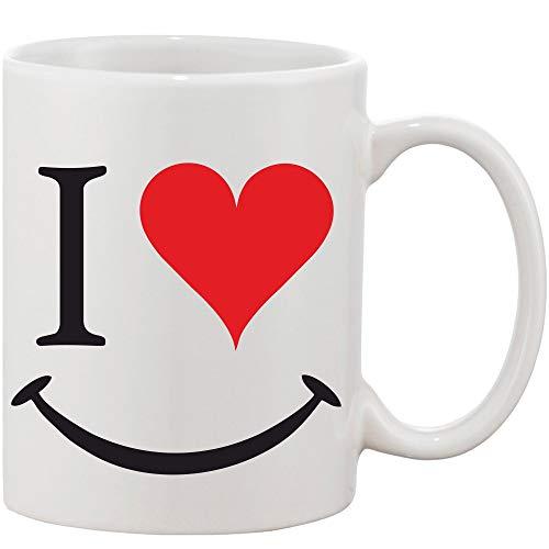 Crazy Sutra Classic Printed Ceramic Coffee/Milk Mug (Mug-Iheart)