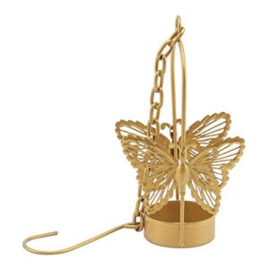 Crazy sutra Butterfly Hanging Metal Butterfly Tea Light Holder Colors Golden