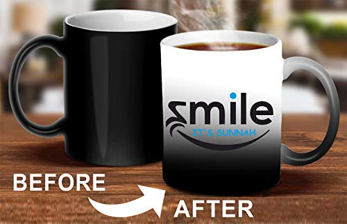 Crazy Sutra Classic Printed Ceramic Magic Mug - Coffee Mug/Milk Mug, Black (Mug-MagicSmile2)