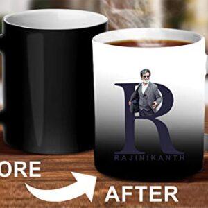 Crazy Sutra Classic Printed Ceramic Magic Mug - Coffee Mug/Milk Mug, Black (Mug-MagicRajnikanth5)