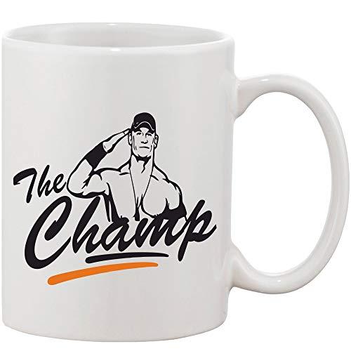Crazy Sutra Classic Printed Ceramic Coffee/Milk Mug | Funky One Liner Coffee/Milk Mug (Mug-TheChamp)