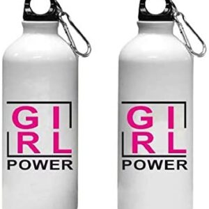Crazy Sutra Classic Printed Quote Water Bottle/Sipper - 600Ml (Sipper_GirlPower_T)