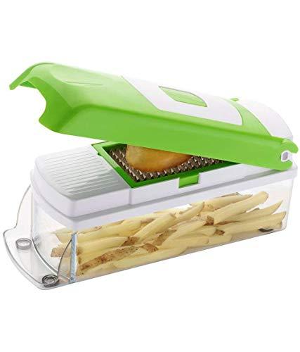 Crazy Sutra 12 in 1 Multi Functional Vegetable Slicer with 11 Blades + 1 Peeler Inside, Household Kitchen for Cutter, Grater, Peeler, Chipser, Chopper, Fruit Cutter, Fruit Slicer, V Vegetable Slicer