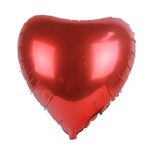 Crazy Sutra Valentine Love Special LARGE Red Heart Shaped Aluminum Film Foil Balloon Wedding Party Decor | 3 Pc LOVE HEART SHAPE FOIL BALLOON -