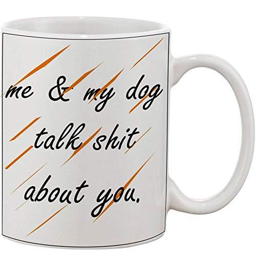 Crazy Sutra Classic Me and MyDog Talk1 Printed Ceramic Milk/Coffee Mug(11oz)