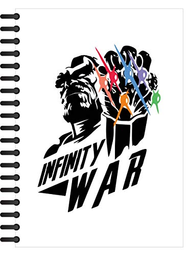 Crazy Sutra Single Ruled Printed Cover Spiral Bound Premium Notebook for Personal Diary, Doodle, Notes, Planner - A5 Size, 100pages (Note-InfinityWar_C)