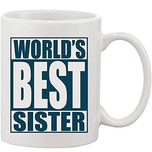 Crazy Sutra Classic Printed Ceramic Coffee/Milk Mug | Funky One Liner Coffee/Milk Mug (Mug-World'sBestSister1)