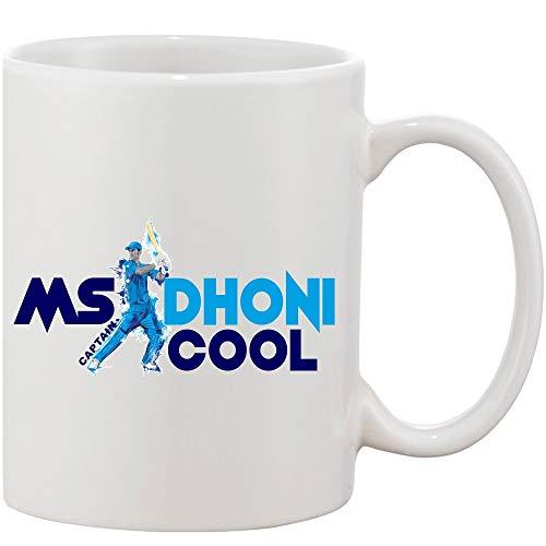 Crazy Sutra Classic Printed Ceramic Coffee/Milk Mug   Funky One Liner Coffee/Milk Mug (Mug-MsDhoniCaptainCool)