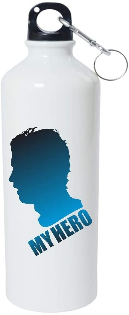 Crazy Sutra Classic Printed Quote Water Bottle/Sipper - 600Ml (MyHero_W)