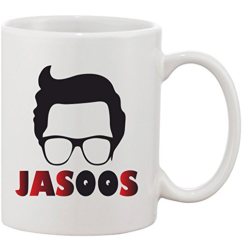 Crazy Sutra Classic Printed Jasoos Ceramic Coffee/Milk Mug | Funky One Liner Coffee/Milk Mug (Mug-Jasoos_C)