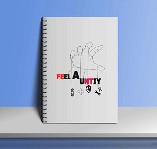 Crazy Sutra Single Ruled Printed Cover Spiral Bound Premium Notebook for Personal Diary, Doodle, Notes, Planner - A5 Size, 100pages (Note-FeelAUnity7)