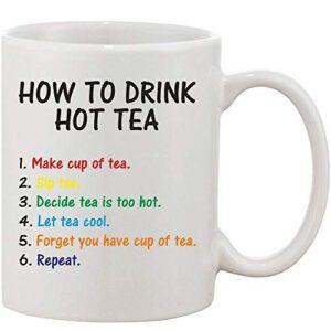 Crazy Sutra Classic How to Drink1 Printed Ceramic Milk/Coffee Mug(11oz)