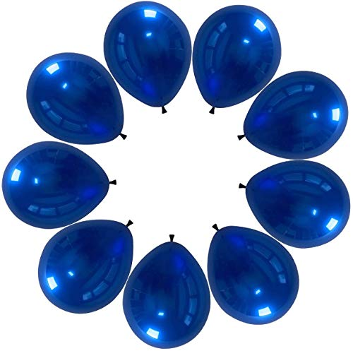 Crazy Sutra 12 inch HD Metallic Finish Balloons for Birthday / Anniversary Party Decoration (Blue, 100)