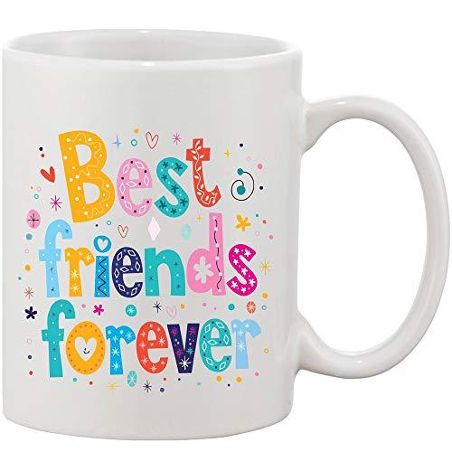 Crazy Sutra Classic Printed Ceramic Coffee/Milk Mug   Funky One Liner Coffee/Milk Mug (Mug-BestFrndForever)