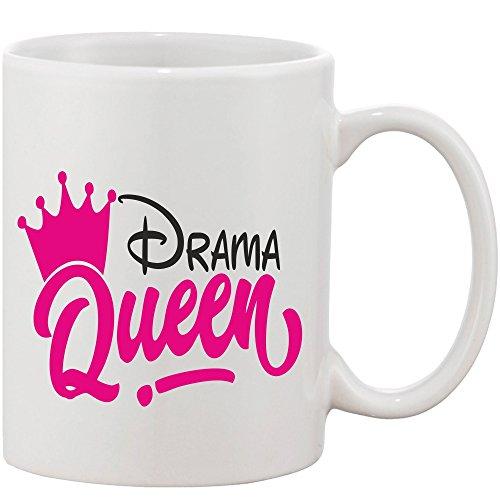 Crazy Sutra Classic Printed Drama Queen Ceramic Coffee/Milk Mug   Funky One Liner Coffee/Milk Mug (Mug-DramaQueen_C)