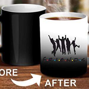 Crazy Sutra Classic Printed Ceramic Magic Mug - Coffee Mug/Milk Mug, Black (Mug-MagicFriends5)