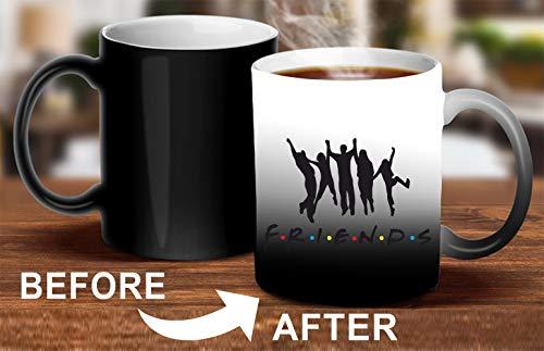 Crazy Sutra Classic Printed Ceramic Magic Mug - Coffee Mug/Milk Mug, Black (Mug-MagicFriends1)