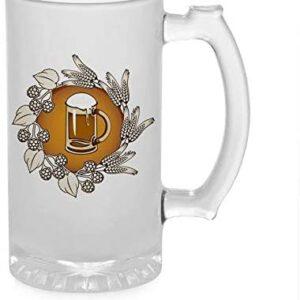 Crazy Sutra Funny and Cool Quote Mug1 Printed Clear Frosted Glass Beer Mug for Friends/Brother/Boyfriend (500ml)