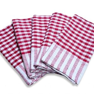 Crazy Sutra Home Cleaning Checkered Kithchen Duster Set of 6 pcs (Multicolor)