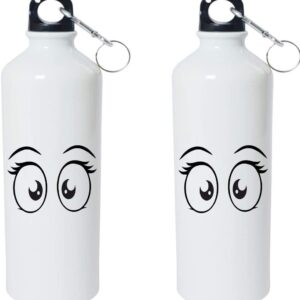 Crazy Sutra Classic Printed Quote Water Bottle/Sipper - 600Ml (Eyes_W)