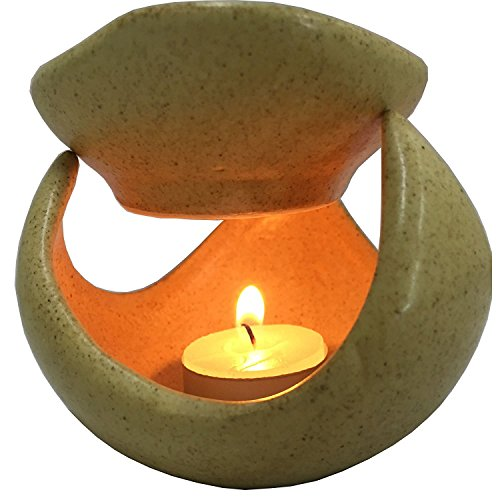Crazy Sutra Ceramic Vista Aroma Diffuser Fragrance Oil Burner with 10 Tealight Candle & 5 x 10ml Aroma Oil Bottles (Multiple fragrances as per Availability)
