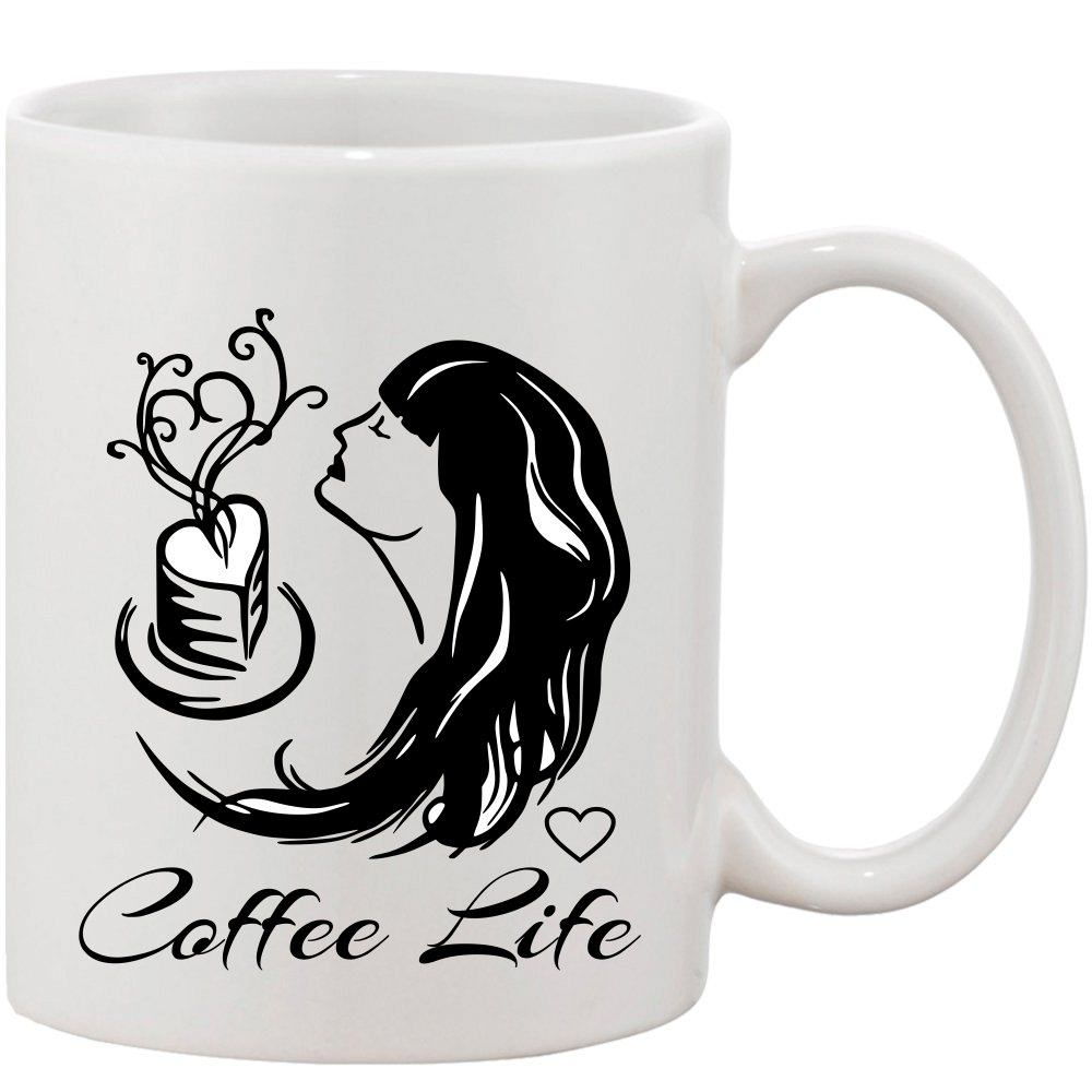 Crazy Sutra Classic Coffee Life Printed Ceramic Coffee/Milk Mug | Funky  Coffee/Milk Mug (White, 11 oz)