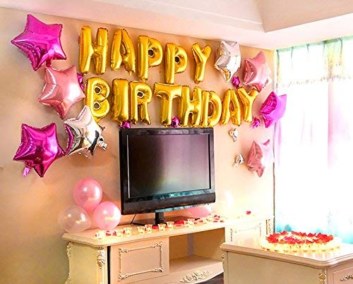 Crazy Sutra Happy Birthday Letters Foil Toy Balloons Multicolor