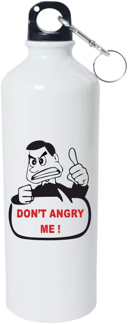 Crazy Sutra Classic Printed Water Bottle/Sipper - 600Ml (SchoolBottles-Don'tAngryMe_W)