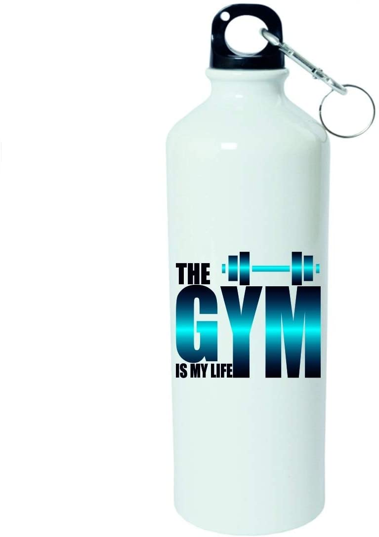 Crazy Sutra Classic Printed Quote Water Bottle/Sipper - 600Ml (TheGymIsMyLife_W)