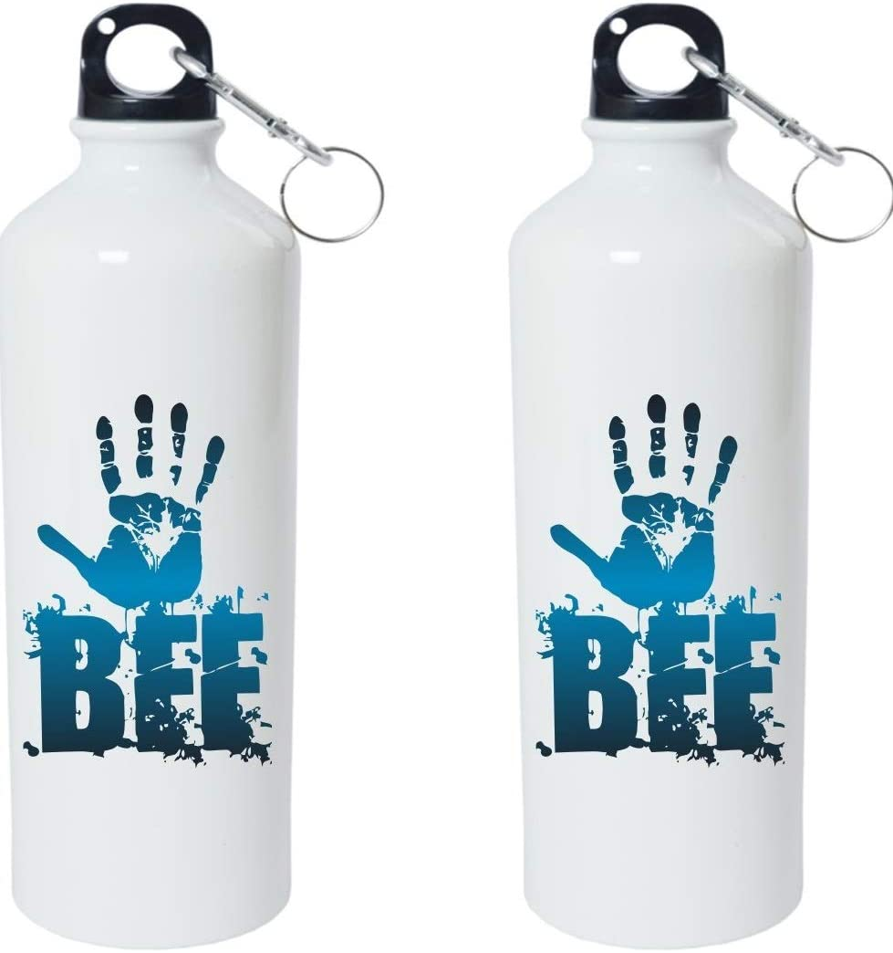 Crazy Sutra Classic Printed Water Bottle/Sipper - 600Ml (SchoolBottles-BFF_W)