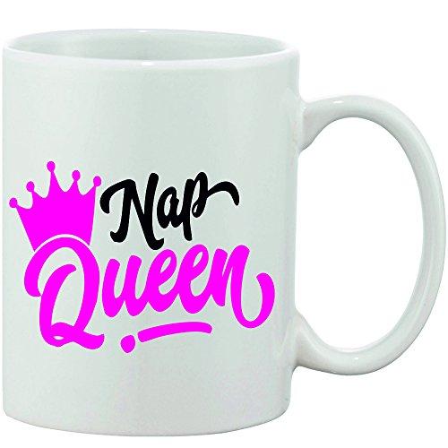 Crazy Sutra Classic Printed Nap Queen Ceramic Coffee/Milk Mug   Funky One Liner Coffee/Milk Mug (Mug-NapQueen_C)