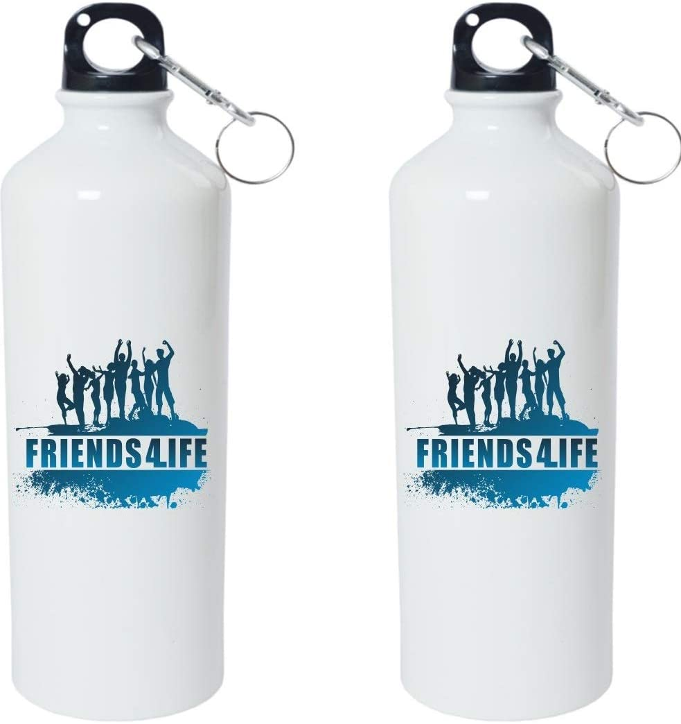 Crazy Sutra Classic Printed Water Bottle/Sipper - 600Ml (SchoolBottles-Friends4Life_W)