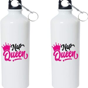 Crazy Sutra Classic Printed Quote Water Bottle/Sipper - 600Ml (NapQueen_W)
