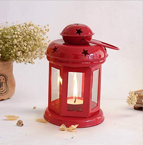Crazy sutra Lanterns Small Hanging Lantern Tea Light Holder Colors RED