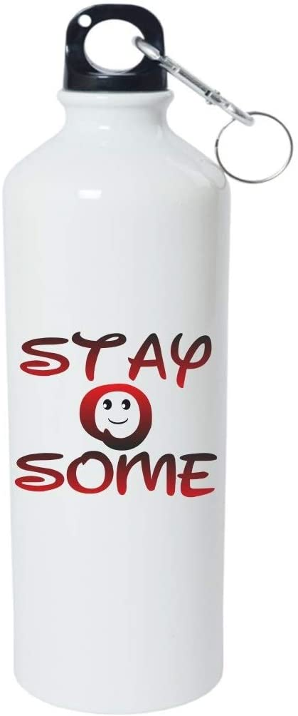 Crazy Sutra Classic Printed Quote Water Bottle/Sipper - 600Ml (StayOSome_W)