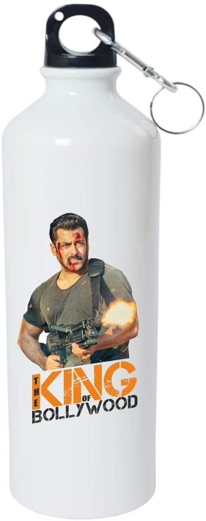Crazy Sutra Classic Printed Water Bottle/Sipper - 600Ml (SchoolBottles-TheKingOfBollywood_W)