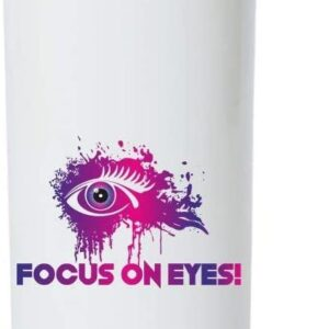 Crazy Sutra Classic Printed Water Bottle/Sipper White - 600Ml (Sipper-FocusOnEyes3)