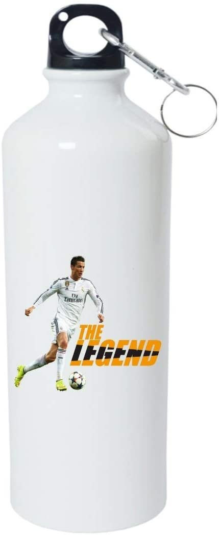 Crazy Sutra Classic Printed Quote Water Bottle/Sipper White - 600Ml (TheLegend_W)